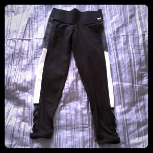 VS PINK Black Cropped Yoga Leggings S